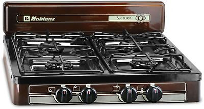 Portable 4 Burner Propane Gas Stove Top Indoor Outdoor Kitch