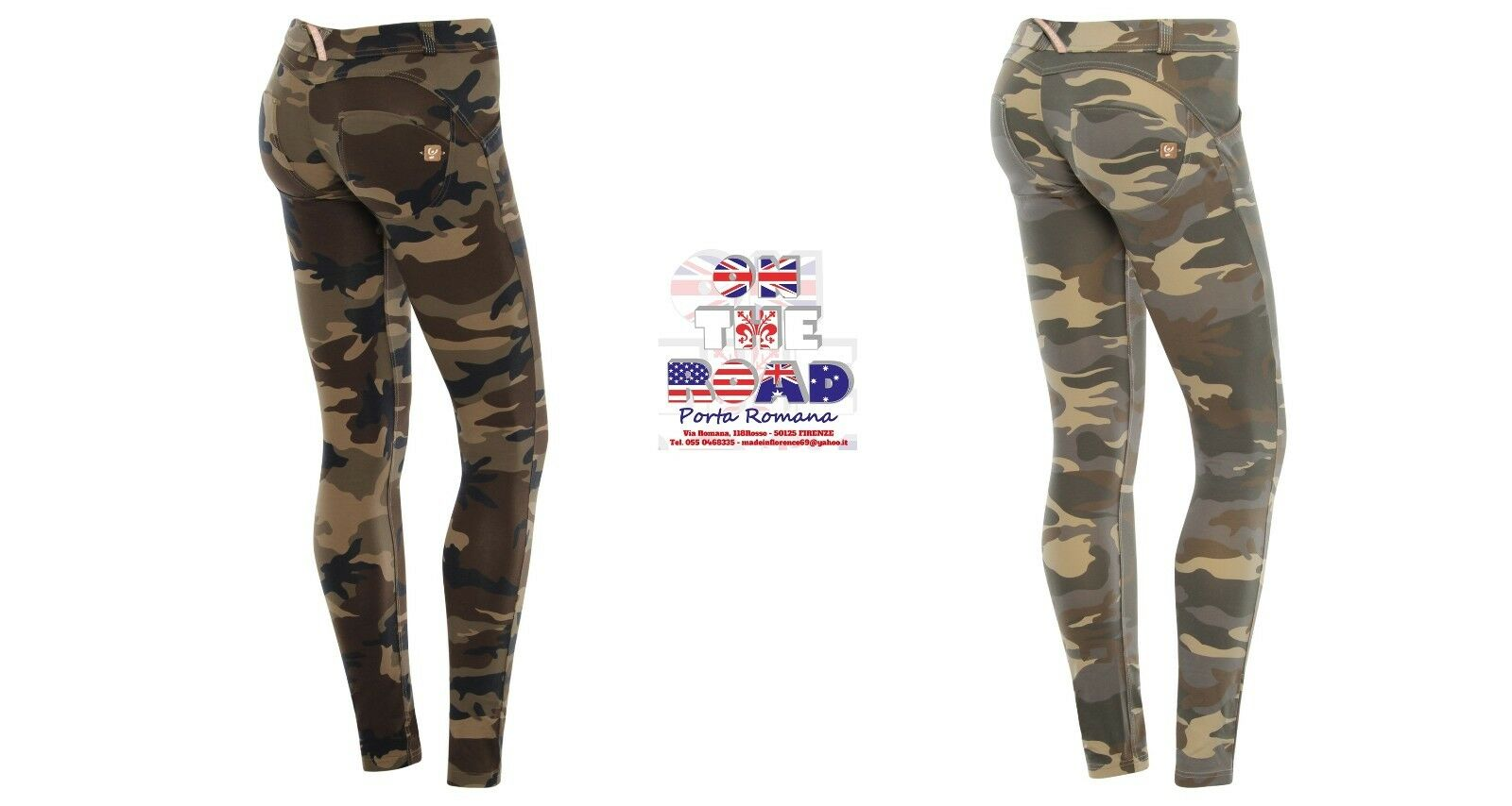 SCONTO 20% FREDDY WR.UP S M L XL PANTALONE COTONE CAMOUFLAGE PUSH UP WRUP1LF04E