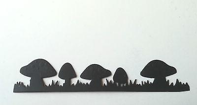 15 small mushrooms toadstools fairy rings cut  black card  die-cuts fairy jars