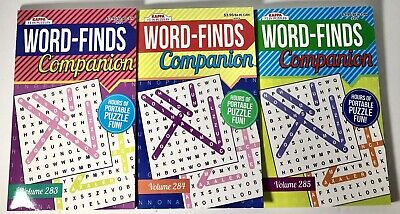3 Puzzle Books Word Finds Companion Vol 283 284 285 Kappa Games Search Hobby