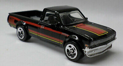 Hot Wheels Datsun 620 Pickup Black w/Red Yellow Stripes New Multi Pack Exclusive