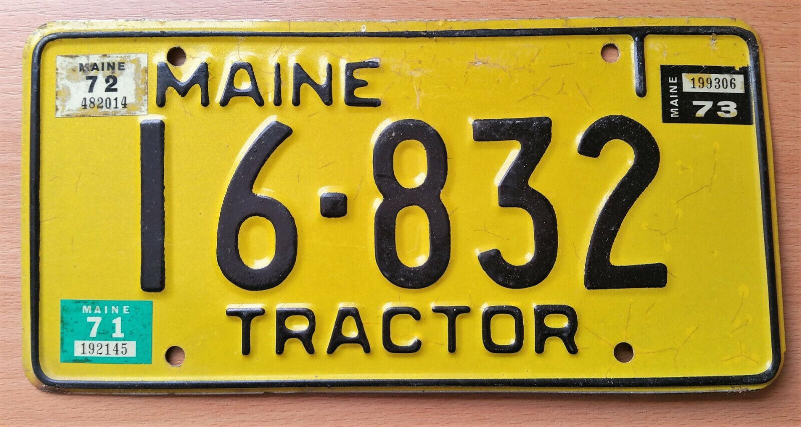 älteres MAINE USA Nummernschild Kennzeichen License Plate Schild