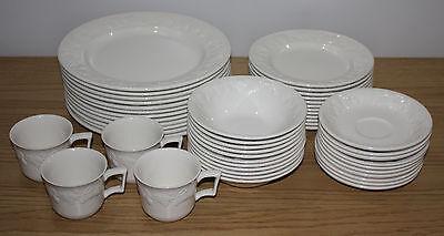 49 Piece Dish Set of International Tableworks Devonshire, Dinner Plates & Bowls
