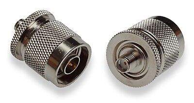 Sma Female To N Male Adaptor For Gps Antenna Coax Rf Industries Rsa 3478   New