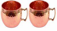 Set Of 2 Copper Finish Moscow Mule Mug Copper Mugs Health Digestion Weight -  - ebay.co.uk