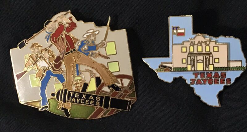 Texas Jaycees Remember The Alamo Trading Pin And State Outline With Raised Alamo