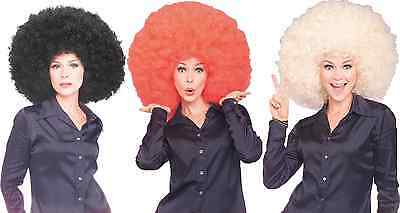 BLACK HUGE MEGA JUMBO AFRO FRO 70'S DISCO FEVER OVERSIZED RED BIG COSTUME - Oversized Afro Wig