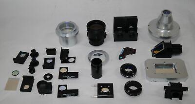 1 Huge Lot Of Laser Related Optics Lenses Mirrors Beamsplitters Filters Mounts