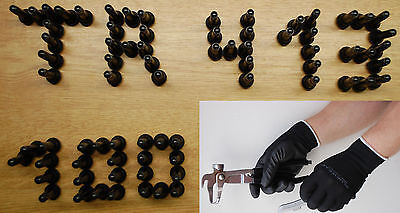 100 GummiVentile TR413 Snap-In Ventil PKW Reifenventil EPMD Gummi + Handschuhe