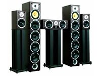 Beng V9B 5 Channel HOME CINEMA SPEAKERS Home Theatre Speakers Set Black 1240W MAX