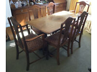 Vintage Refrectory Dining Table and Chair set
