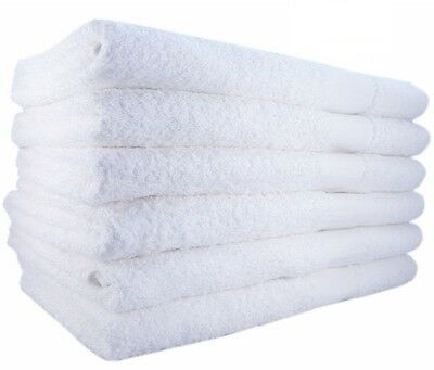 24 new white soft hand towels 16x27 100% cotton wholesale lo