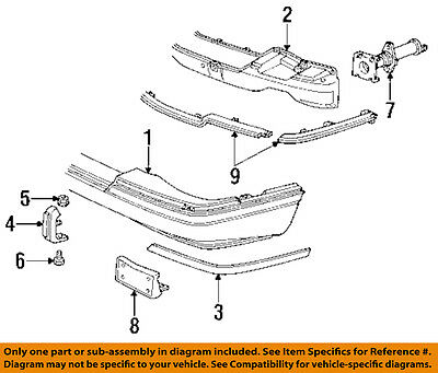Cadillac GM OEM 92-97 Seville-Bumper Trim-Molding Trim Right 20724198