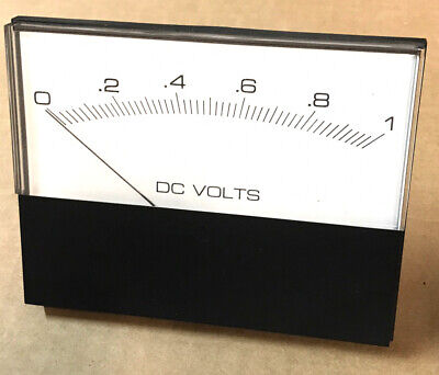 Large Analog Panel Meter - 1ma Movement - 4 X 5 - Modutec