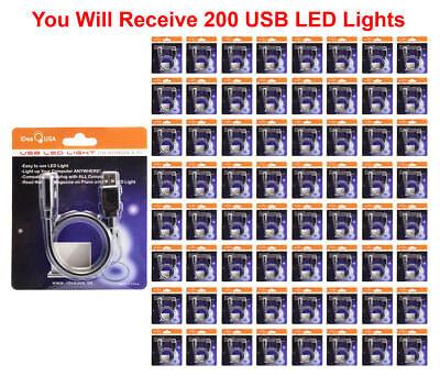 200x USB Desk Lamp Bright Flexible LED Light Laptop Portable Mini PC ComputerUSA