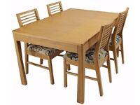 Solid Oak Wood Extending Dining Table Geo / Mark Webster Design