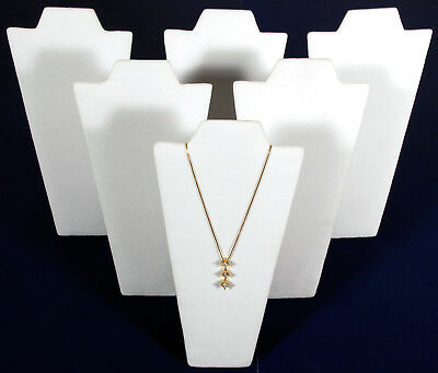 6 White Velvet Pendant Necklace Jewelry Display 9
