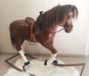 Rocking Horse - Rare Cannon Chestnut Palomino Southport Gold Coast City Preview