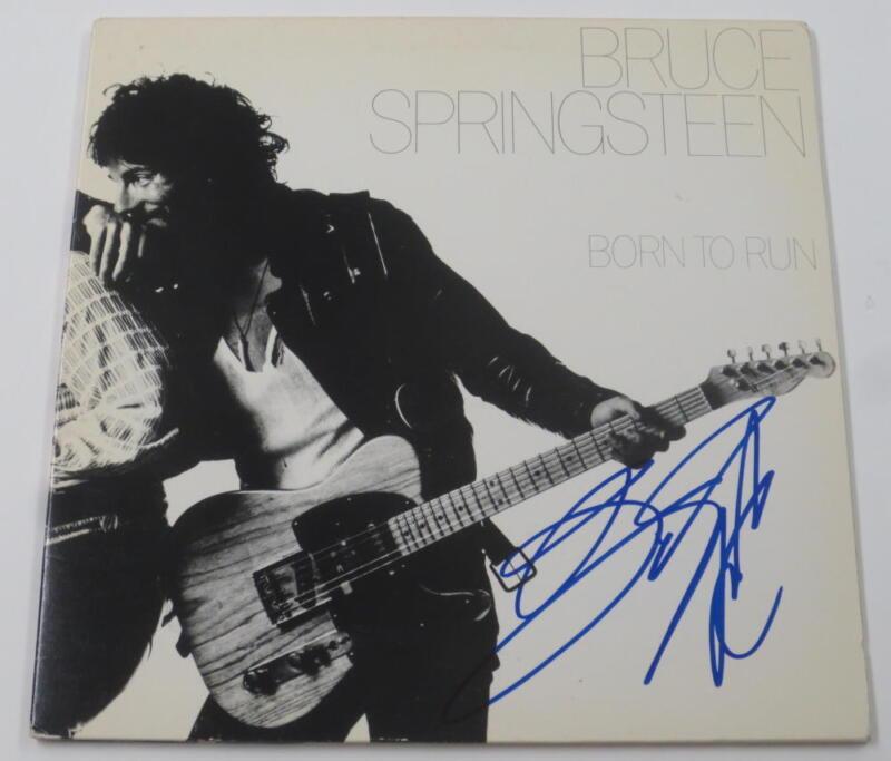 BRUCE SPRINGSTEEN SIGNED BORN TO RUN ALBUM VINYL AUTOGRAPH PROOF PIC PSA/DNA LOA