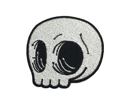 Cute Skull Badge Halloween Costume Biker Jacket Cloth Embroidered Iron On Patch