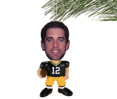- Green Bay Packers NFL Flathlete Aaron Rodgers #12 Resin Christmas Ornament
