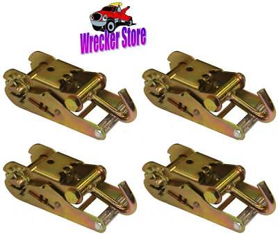 """SET OF FOUR RATCHETS for 2"""" Wide Strap for Wrecker, Tow Truck, Car Hauler, used for sale  Shipping to Canada"""