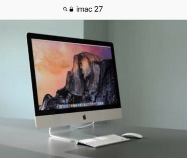 Imac 27 in mint condition as new late 2013