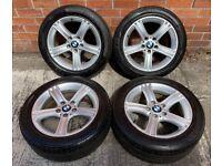 17'' GENUINE BMW F30 3 SERIES 393 F30 F31 F32 F33 F34 4 ALLOY WHEELS TYRES ALLOYS 5X120