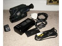 Untested Hitachi E31E Camcorder With Remote Faulty Power Supply AV Lead Battery