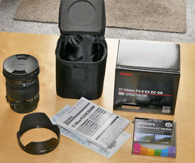 Sigma Lens 17-50mm f2.8 EX DC OS HSM - For Canon camera's. As new
