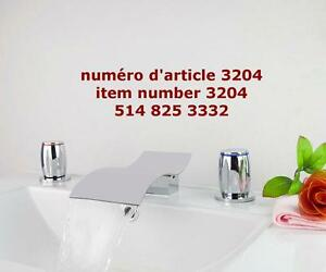 Beautiful 3 Piece Chrome Bathroom & Basin Mixer Tap Faucet