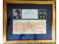Framed photo of Paul McCartney with Copy Birth Certificate plus Beatles Photo