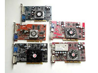 AGP Graphics Cards - Nvidia & ATI Radeon (Various, Graphics Card, Cheap, Windows, Dell, HP Compaq)