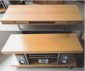 IKEA Beech TV Unit and matching Coffee Table