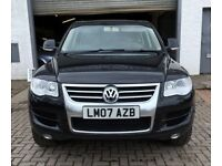 REDUCED 2007 VW Touareg 3.0 Tdi V6 SE auto 4x4 Full history 2 keys and mot'd until March 19 GORGEOUS