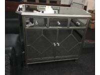 New/Ex Display Mirrored Harveys Fiorella Hall Sideboard