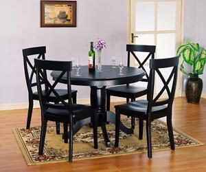 NEW--Until July 09, 2016. MAXIMUM DISCOUNT--5pc Round Dining Set-65%OFF--Floor Model 1290DIN. Set comes with 4 chairs. R