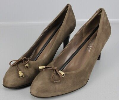 Moda Di Fausto Pumps braun Gr. 44 High Heels Vitello Bogota Moro...