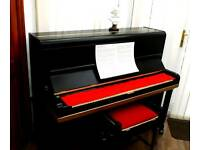 Black upright,overstrung piano. FREE DELIVERY!!