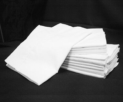 8 NEW WHITE HOTEL PILLOW CASES STANDARD SIZE GEORGIA TOWELS SUPREME T180