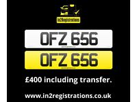 OFZ 656 - 3 digit Short NI Number Plate -Cherished Personal Private Registration plate-CAR,VAN,LORRY