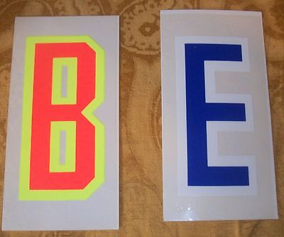 Static Cling Vinyl Window Sign Kits. 1 in Blue & 1 in fluorescent orange/yellow Static Cling Window Signs