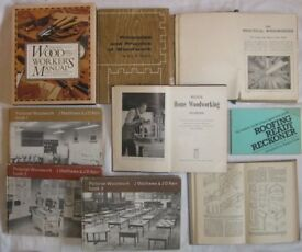 11 Fully Illustrated Carpentry & Joinery Books and Vintage Manuals