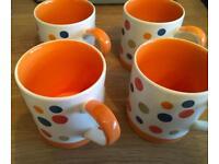 Four mugs Whittards