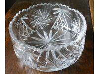 Cut Crystal Fruit/Salad Bowl