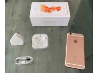 Rose Gold Apple Iphone 6S 128GB Factory Unlocked To All Networks + Warranty
