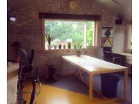 Creative desk space in artist-run studios!
