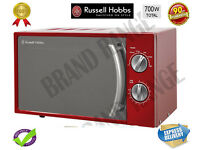 ***NEW***Russell Hobbs Manual Microwave 17 Litre Red RHM1709R