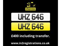 UHZ 646 - 3 digit Short NI Number Plate -Cherished Personal Private Registration plate-CAR,VAN,LORRY