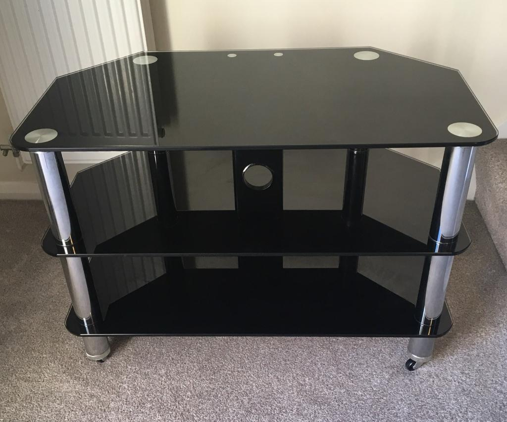 Three Tier Black Glass Tv Stand From Argos In Hedge End Hampshire